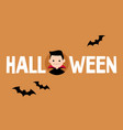 halloween conceptual sign dracula and black vector image vector image