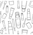 hand drawn bootles of foundation vector image vector image