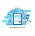 health insurance concept banner vector image vector image