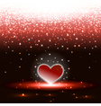 Heart with sparkles rain vector image vector image