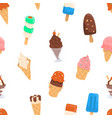 ice cream pattern with variety of flavours vector image vector image