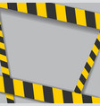 industrial danger lines on white background vector image vector image