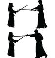 kendo japanese sport silhouette vector image