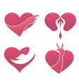 love and hand vector image vector image