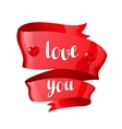 love you happy valentine day greeting card vector image