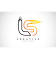 ls creative modern logo design with orange and vector image vector image