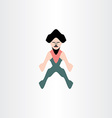 man with beard icon design vector image vector image