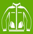 men winter jacket icon green vector image vector image
