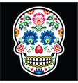 Mexican sugar skull Polish folk art style vector image vector image
