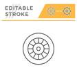 motorcycle wheel line icon vector image