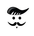 mustache face black vector image
