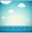 natural background with sky clouds and water vector image vector image