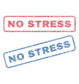 no stress textile stamps vector image vector image