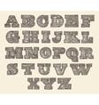 original font wild west wood vintage engraved vector image