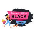 promotion sales and discounts a girl is vector image