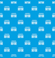 recorder pattern seamless blue vector image vector image