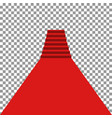 red carpet vip vector image vector image
