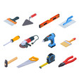 repair tool isometric handyman construction tools vector image