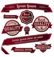 retro guarantee label set vector image