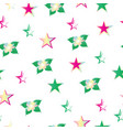 seamless pattern with flowers and stars vector image