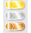 Set 3 of circle and cylinder labels vector image vector image