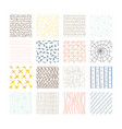 set abstract colored squares hand drawn vector image vector image