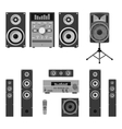 set audio and music systems icons vector image