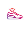 smart shoe icon linear vector image