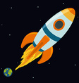 Spaceship design vector image