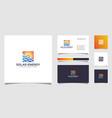 symbol sun solar energy logo design template vector image