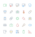 User Interface Colored Line Icons 53 vector image vector image