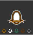 vintage emblem logo template vector image vector image