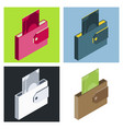 wallets with money shopping purse with cash vector image vector image