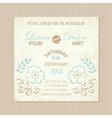 wedding card vintage vector image vector image