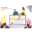 woman and man at conference having a rest vector image vector image