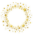 wreath of golden stars vector image vector image