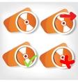 Compact disk web icon vector image
