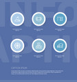 set of 6 editable science icons includes symbols vector image