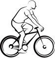 simple with a bicycler vector image