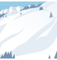 Ski resort mountains tracks building winter vector image
