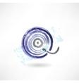vinyl record grunge icon vector image