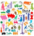 children and toys vector image