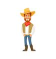 cartoon cowboy vector image