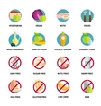 Diets Icons Set vector image