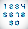 Modern Abstract Number Alphabet-Geometric Style vector image