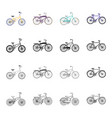 a bicycle a vehicle for recreation and sports vector image