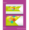 a business card template vector image vector image