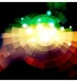 Abstract green lightning vector image