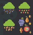Autumn icons designs vector image vector image