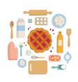 banner set of accessories for kitchen and bakery vector image